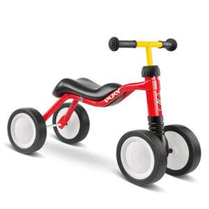 велосипед с 4 колела PUKY Wutsch - червен детско бебешко колело с четири колела за дете на 1,5 година