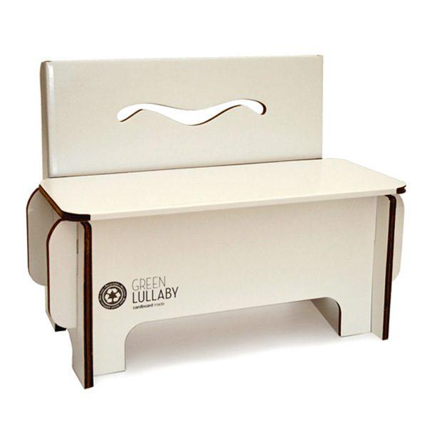 картонена пейка за дете, детски картонени мебели Green Lullaby