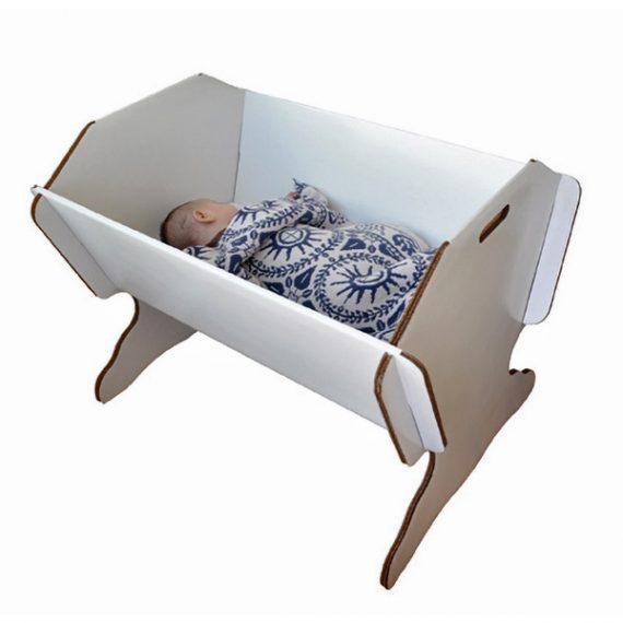картонена люлка за бебе, картонени мебели Green Lullaby