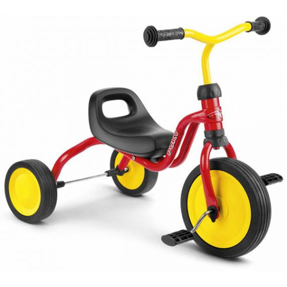 триколка PUKY Fitsch червена детска триколка за дете на 1,5 години