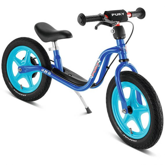 велосипед за баланс PUKY LR 1L Br син футбол колело без педали със спирачка