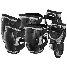 протектори comfort junior - черни протектори за китки колена и лакти