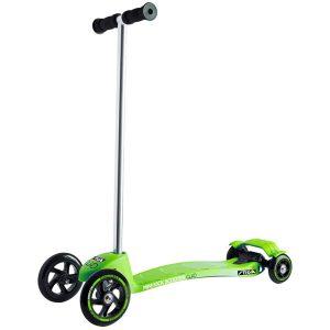тротинетка stiga mini kick quad зелена тротинетка с 4 колела за малки деца на 2 години и деца на 3 години