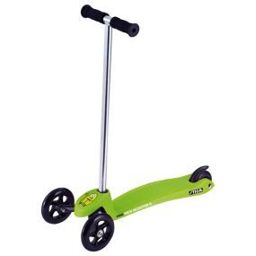 тротинетка stiga mini kick зелена с 3 колела за малки деца на 2 години и деца на 3 години