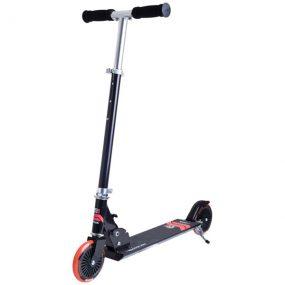 тротинетка stiga charger 120-s черно/червено сгъваема детска тротинетка с 2 колела