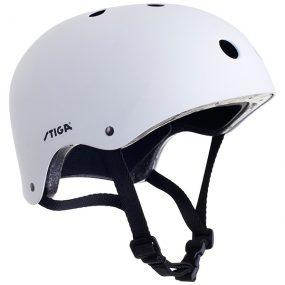 предпазна каска stiga sum xi бяла каска за ролери скейтборд скутери и тротинетки за фрийстайл