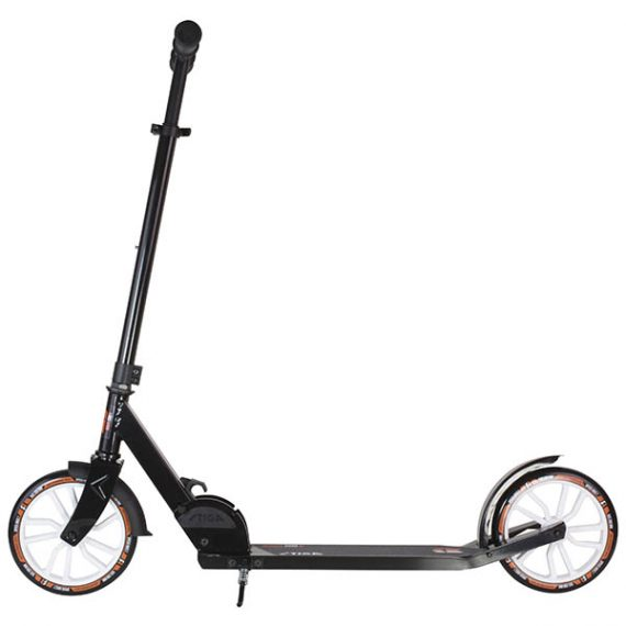 тротинетка stiga route 200-s черна сгъваема тротинетка с големи колела до 100 килограма