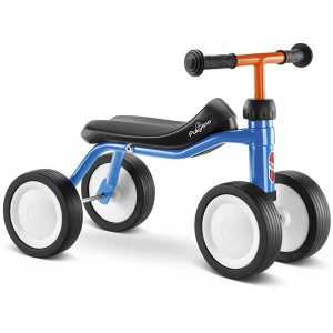 велосипед с 4 колела PUKYlino - син детско бебешко колело с четири колела