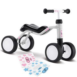 велосипед с 4 колела PUKY Wutsch - светло сив детско бебешко колело с четири колела за дете на 1,5 година