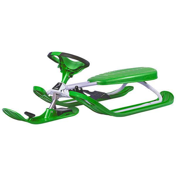 шейна с кормило SNOWRACER Color PRO зелена