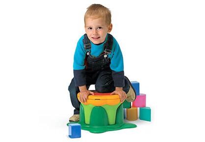 Kiddy Bin Stool - kid play
